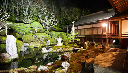 Một góc vườn trong chùa